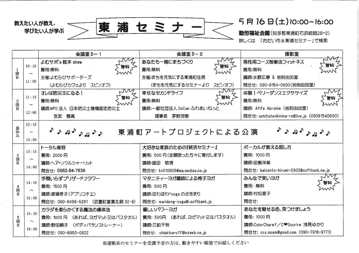Odaiichihigashiuraseminar20150516